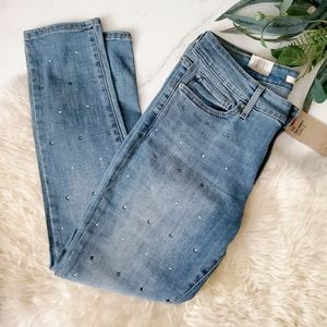 NWT Levi's 711 Skinny Studded Ankle Jeans